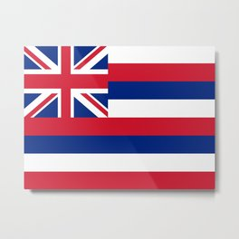 flag of hawai,america,usa,Aloha State, Paradise of the Pacific, Hawaiian,oceania,Honolulu,Maui,Oahu, Metal Print