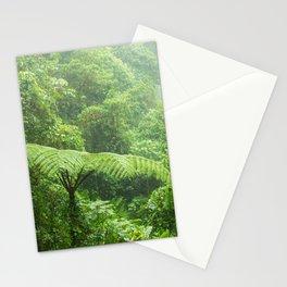 Misty rainforest in Monteverde cloud forest reserve Stationery Cards