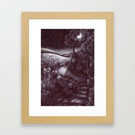 La luna sulla capitale Framed Art Print