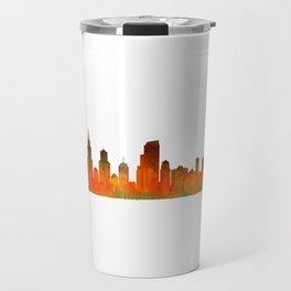 Chicago City Skyline Hq v1 Travel Mug
