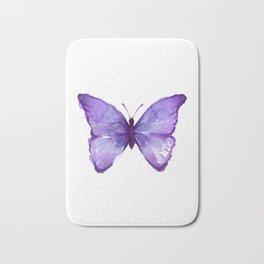 Purple Butterfly Bath Mat