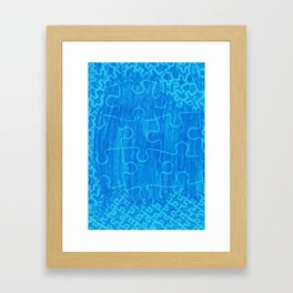 Life is a puzzle 7 Framed Art Print