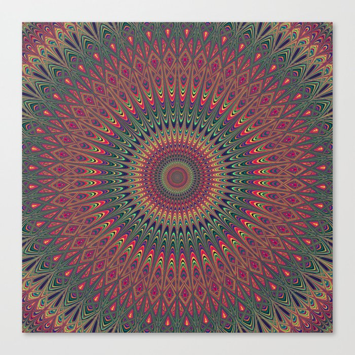 Autumn Star Mandala Canvas Print