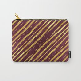 Fuchsia Golden Tiger Stripes Carry-All Pouch