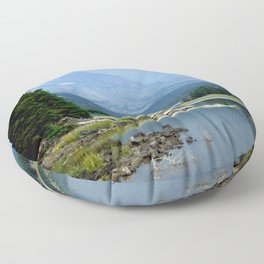 The Blue Cascade Lakes Floor Pillow