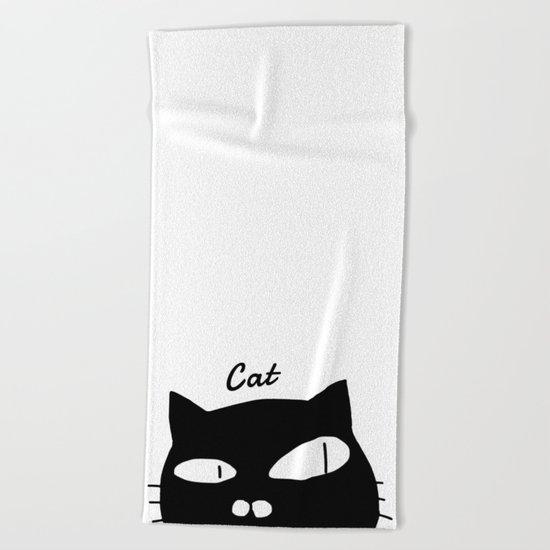 cat-351 Beach Towel