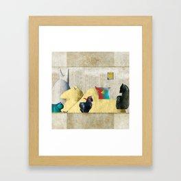 Flock of Bofuko Framed Art Print