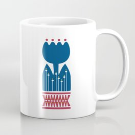 Nordic Blue Flower Coffee Mug