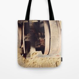 Antique wheel woodworking tool Tote Bag