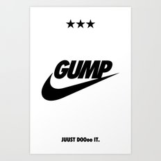 Gump Just Do It Art Print