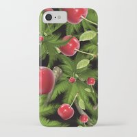 cherry iPhone & iPod Cases featuring cherry by mark ashkenazi