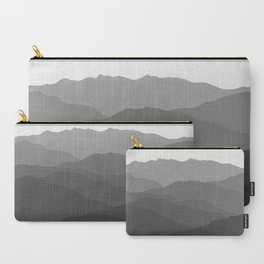 Shades of Grey Mountains Carry-All Pouch