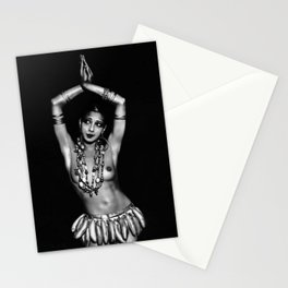 Jazz Age Josephine Baker in Folies Bergère Bananas Costume, Paris, France Stationery Cards