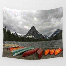 Two Medicine Lake With Sinopah Mountain Wall Tapestry