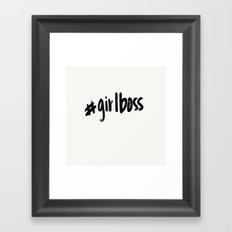 #girlboss Framed Art Print