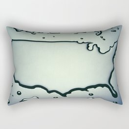 USA Map in Liquid Water US Outline United States Rectangular Pillow