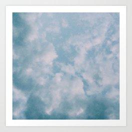 Fluffy Blue Clouds Art Print