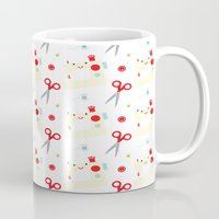 sewing Mugs featuring Sewing fun by Samantha Eynon