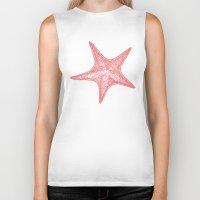 starfish Biker Tanks featuring Starfish by AleDan