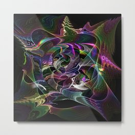 Main Brain Metal Print
