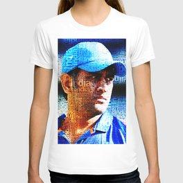 MS Dhoni Typography T-shirt