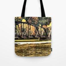 West VA Train Bridge Tote Bag