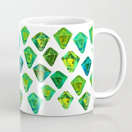 Green gemstone pattern. Coffee Mug