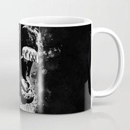 horse hilarious big mouth watercolor splatters black white Coffee Mug