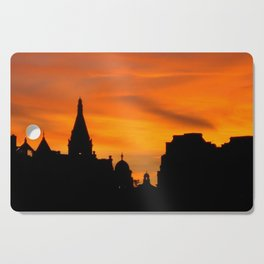 London Sunset in sillouette bywhacky Cutting Board