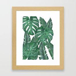 Tropical Leaves Art Print Framed Art Print