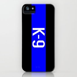 Police K-9 (Thin Blue Line) iPhone Case