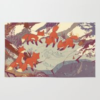 iphone 5 case Area & Throw Rugs featuring Fisher Fox by Teagan White