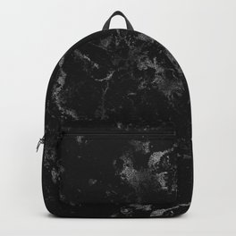 Vintage modern black gray white stylish marble Backpack