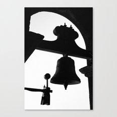 Church bell silhouette Canvas Print