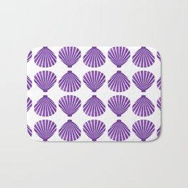 Purple Glitter Shells Bath Mat