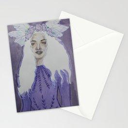 Peony Goddess / goddess art / purple art / watercolor art / floral art / chelsea bednar design Stationery Cards