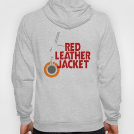 Red Leather Jacket Hoody