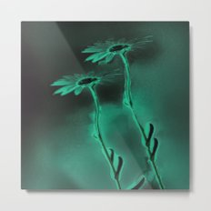 two green daisies Metal Print