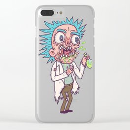 Tiny Rick T-Shirt 2 Clear iPhone Case