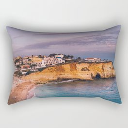 Carvoeiro town and beach in Lagoa, Algarve, Portugal. Rectangular Pillow