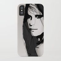 vogue iPhone & iPod Cases featuring Face- Vogue by Allison Reich