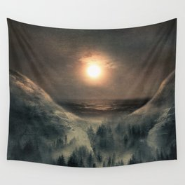 Hope in the moon Wall Tapestry