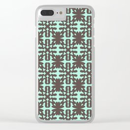 Mint Chocolate Bloom Clear iPhone Case