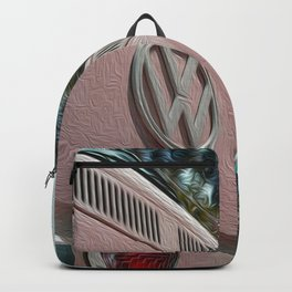 Bus Life in Pink brushstrokes Backpack