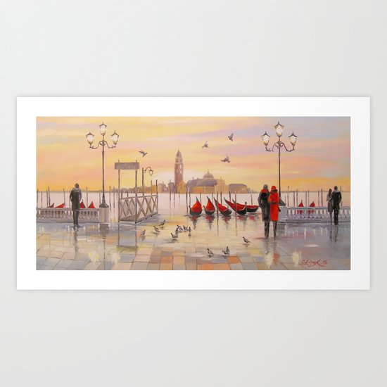 Morning in Venice Art Print
