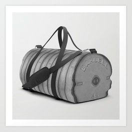 Olympic Dumbbell Weights // Classic Iron Grey Athletic Sports Gym Bag Designed by duffletrouble Art Print