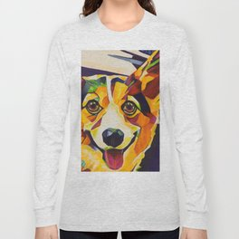 Pop Art Corgi Long Sleeve T-shirt