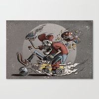 mario kart Canvas Prints featuring Death Kart by Calakka