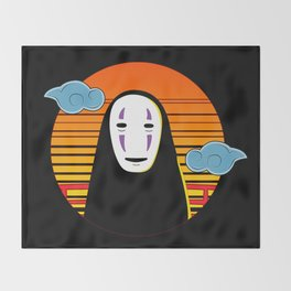 No Face a Lonely Spirit Throw Blanket