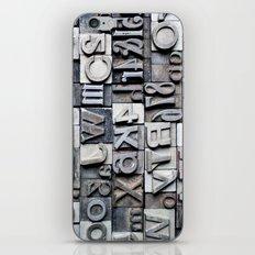 Letterpress iPhone & iPod Skin